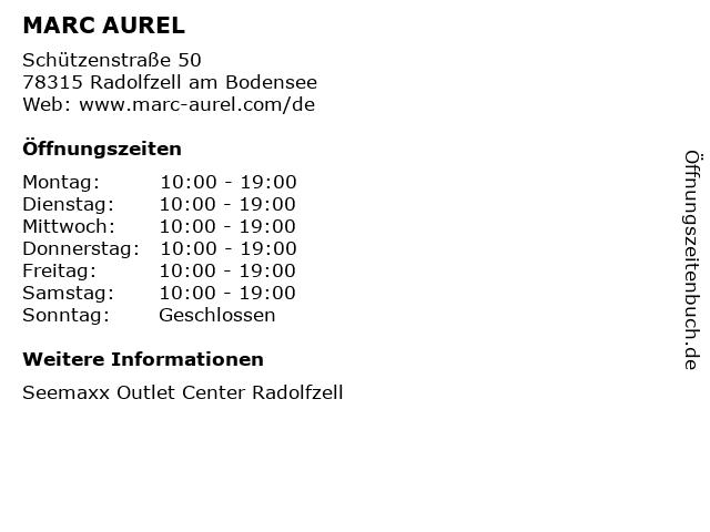 MARC AUREL in Radolfzell am Bodensee: Adresse und Öffnungszeiten