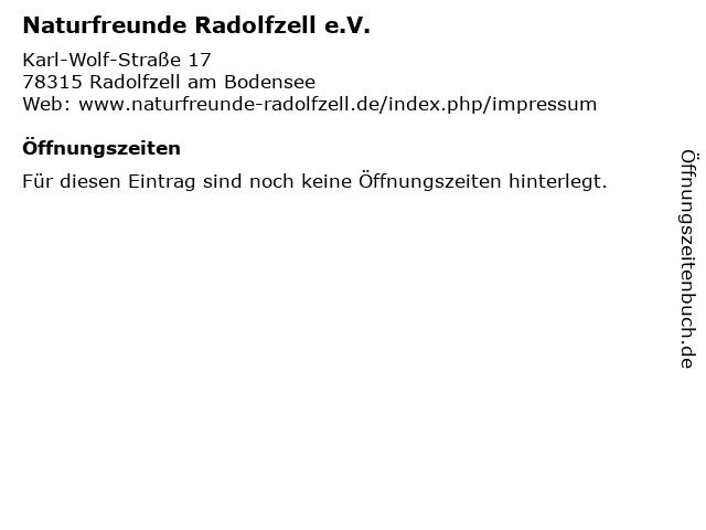 Naturfreunde Radolfzell e.V. in Radolfzell am Bodensee: Adresse und Öffnungszeiten