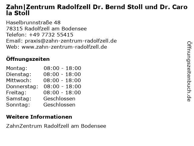 Zahn|Zentrum Radolfzell Dr. Bernd Stoll und Dr. Carola Stoll in Radolfzell am Bodensee: Adresse und Öffnungszeiten