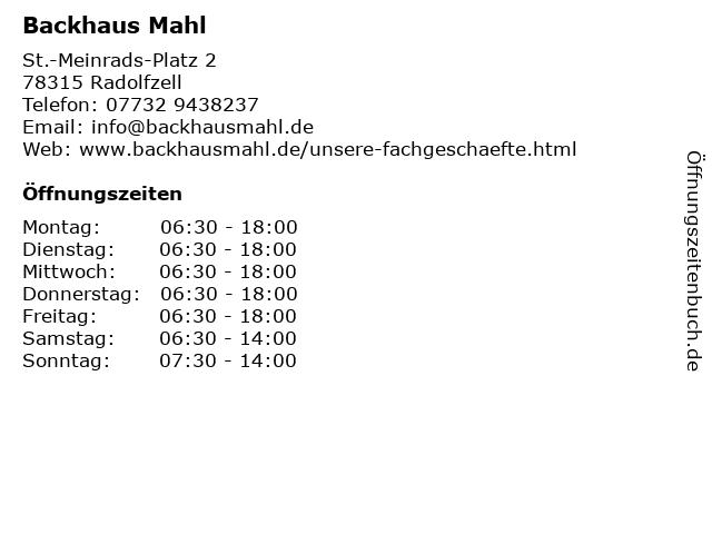 Backhaus Mahl in Radolfzell: Adresse und Öffnungszeiten