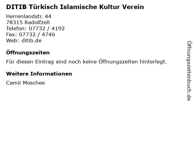 DITIB Türkisch Islamische Kultur Verein in Radolfzell: Adresse und Öffnungszeiten