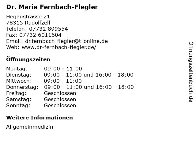 Dr. Maria Fernbach-Flegler in Radolfzell: Adresse und Öffnungszeiten