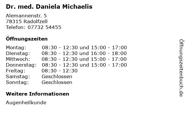 Dr. med. Daniela Michaelis in Radolfzell: Adresse und Öffnungszeiten