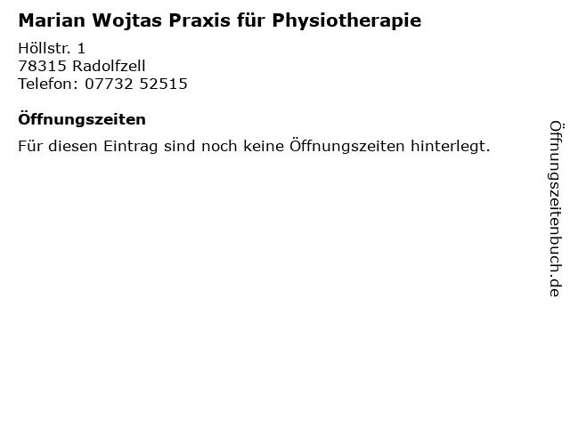 Marian Wojtas Praxis für Physiotherapie in Radolfzell: Adresse und Öffnungszeiten