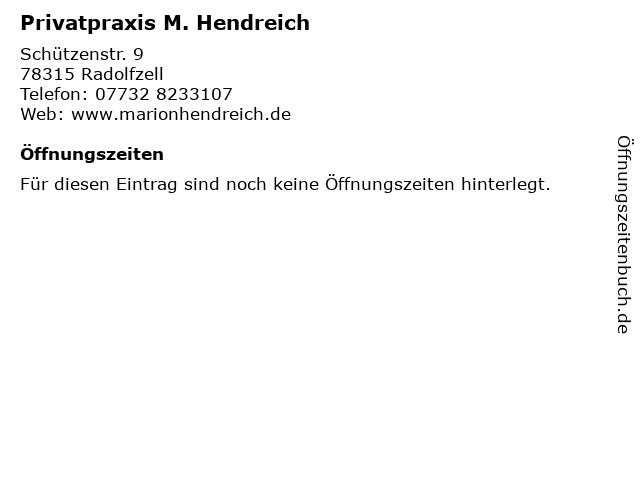 Privatpraxis M. Hendreich in Radolfzell: Adresse und Öffnungszeiten