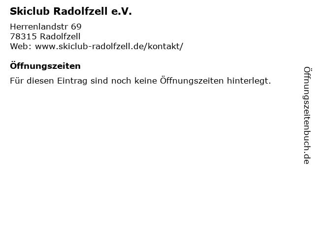 Skiclub Radolfzell e.V. in Radolfzell: Adresse und Öffnungszeiten