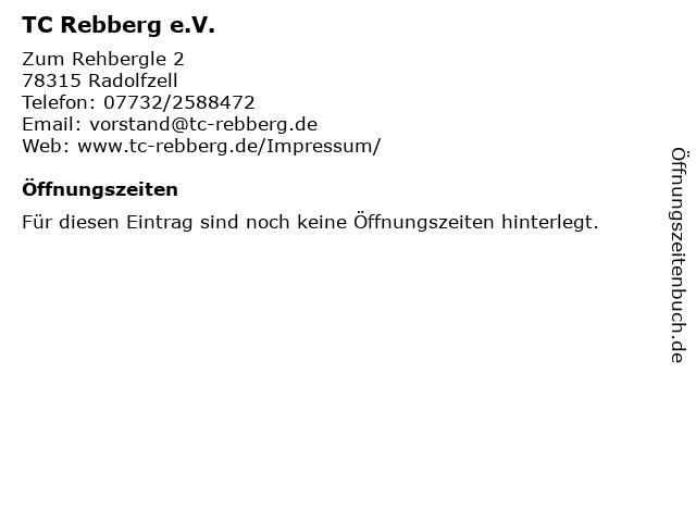 TC Rebberg e.V. in Radolfzell: Adresse und Öffnungszeiten