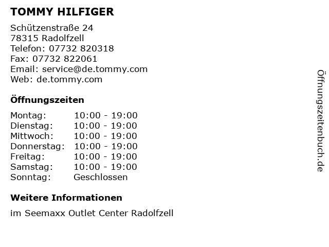 TOMMY HILFIGER in Radolfzell: Adresse und Öffnungszeiten