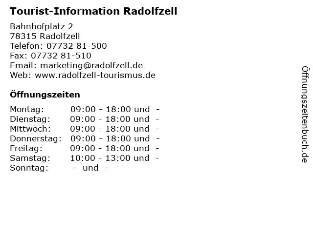 Tourist-Information Radolfzell in Radolfzell: Adresse und Öffnungszeiten