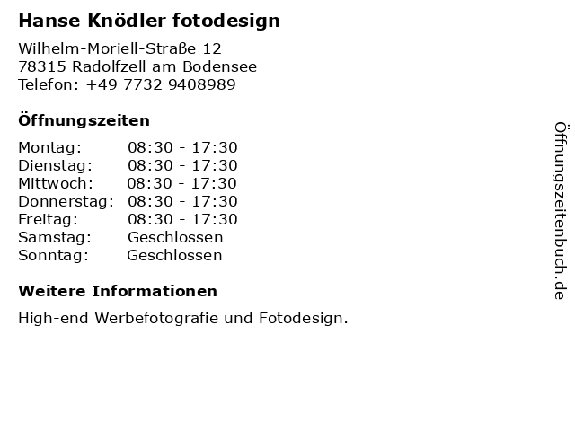 kuhnle + knödler GbR in Radolfzell: Adresse und Öffnungszeiten