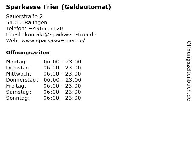 Sparkasse Trier - Filiale Ralingen in Ralingen: Adresse und Öffnungszeiten