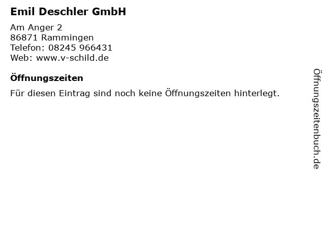 Emil Deschler GmbH in Rammingen: Adresse und Öffnungszeiten