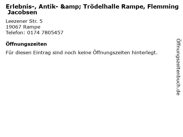 Erlebnis-, Antik- & Trödelhalle Rampe, Flemming Jacobsen in Rampe: Adresse und Öffnungszeiten