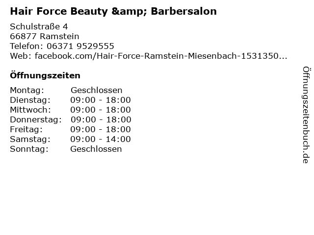 Hair Force Beauty & Barbersalon in Ramstein: Adresse und Öffnungszeiten