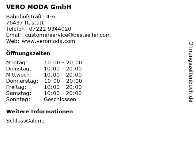 VERO MODA GmbH in Rastatt: Adresse und Öffnungszeiten