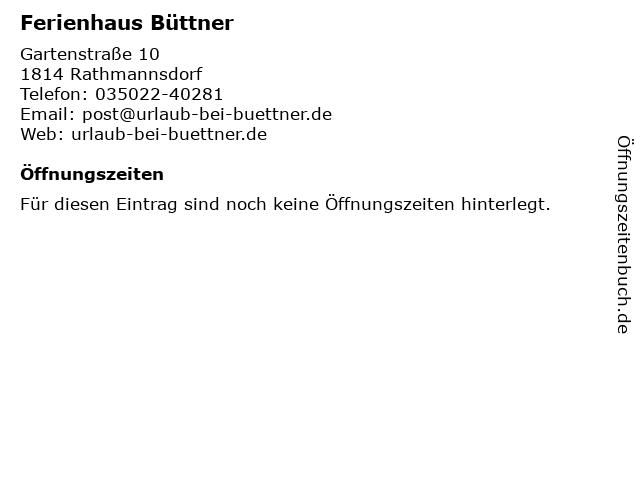 Ferienhaus Büttner in Rathmannsdorf: Adresse und Öffnungszeiten