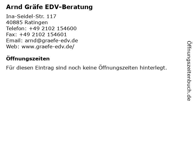 Arnd Gräfe EDV-Beratung in Ratingen: Adresse und Öffnungszeiten