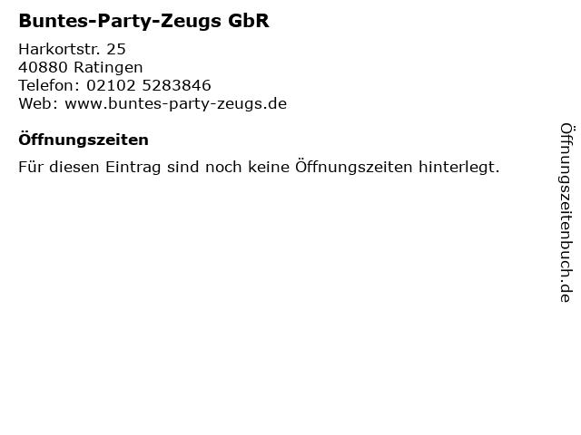 Buntes-Party-Zeugs GbR in Ratingen: Adresse und Öffnungszeiten
