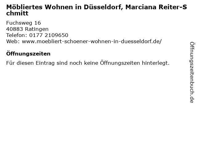 Möbliertes Wohnen in Düsseldorf, Marciana Reiter-Schmitt in Ratingen: Adresse und Öffnungszeiten