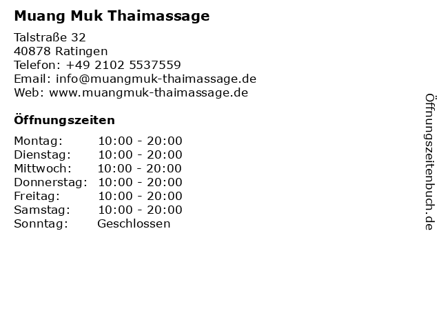 Thai massage ratingen