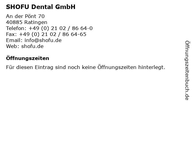 SHOFU Dental GmbH in Ratingen: Adresse und Öffnungszeiten