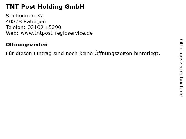 TNT Post Holding GmbH in Ratingen: Adresse und Öffnungszeiten