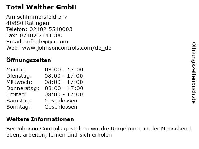 Tyco Holding GmbH in Ratingen: Adresse und Öffnungszeiten