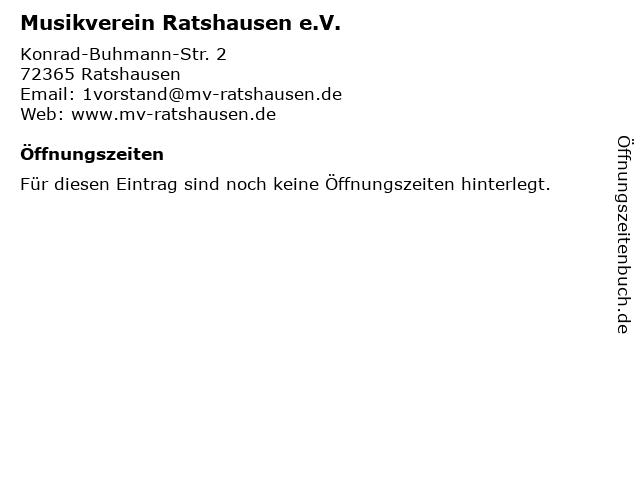 Musikverein Ratshausen e.V. in Ratshausen: Adresse und Öffnungszeiten