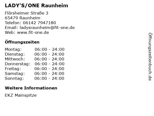 LADY'S/ONE Raunheim in Raunheim: Adresse und Öffnungszeiten