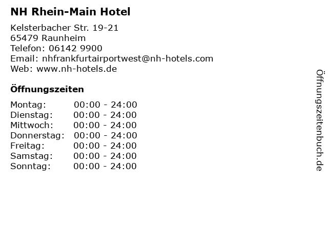 NH Rhein-Main Hotel in Raunheim: Adresse und Öffnungszeiten