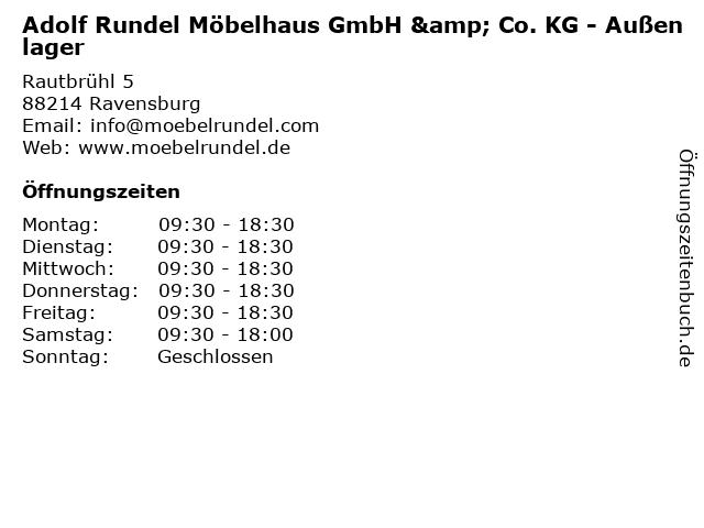 ᐅ öffnungszeiten Adolf Rundel Möbelhaus Gmbh Co Kg Außenlager