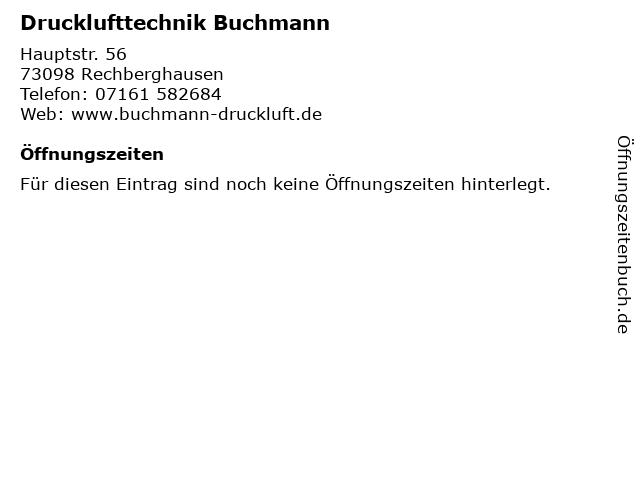 Drucklufttechnik Buchmann in Rechberghausen: Adresse und Öffnungszeiten