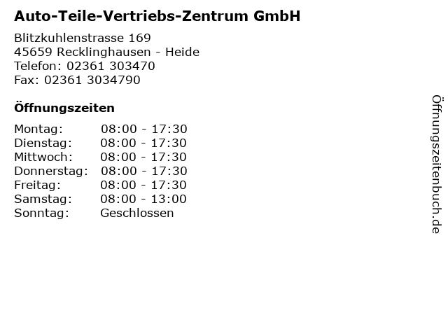 Auto-Teile-Vertriebs-Zentrum GmbH in Recklinghausen - Heide: Adresse und Öffnungszeiten