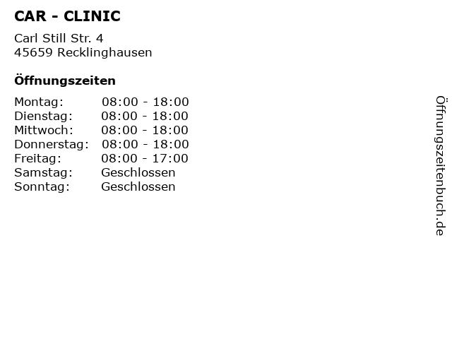 CAR - CLINIC in Recklinghausen: Adresse und Öffnungszeiten