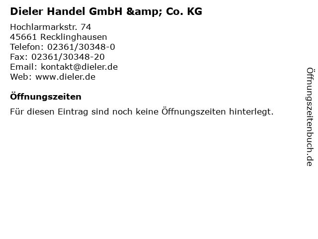 Dieler Handel GmbH & Co. KG in Recklinghausen: Adresse und Öffnungszeiten