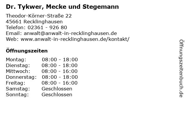 Dr. Tykwer, Mecke und Stegemann in Recklinghausen: Adresse und Öffnungszeiten