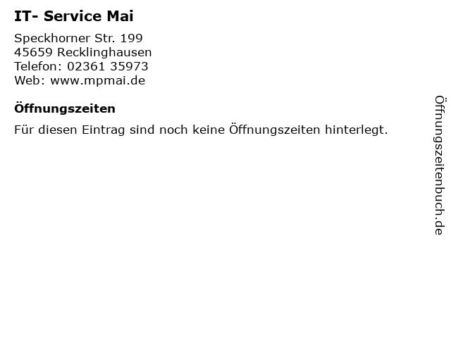 IT- Service Mai in Recklinghausen: Adresse und Öffnungszeiten