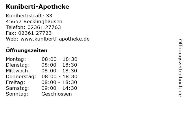 Kuniberti-Apotheke in Recklinghausen: Adresse und Öffnungszeiten
