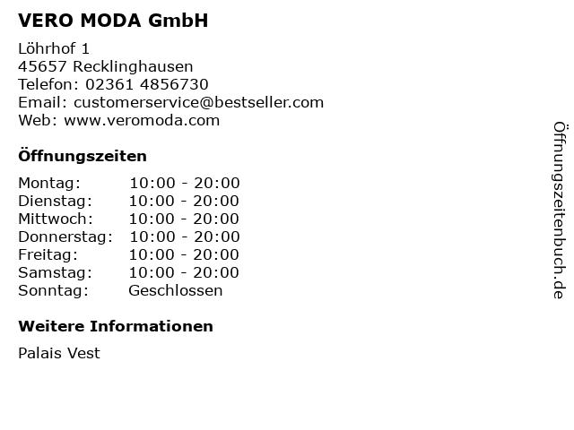 VERO MODA GmbH in Recklinghausen: Adresse und Öffnungszeiten