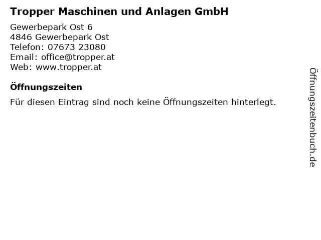 Tropper Maschinen und Anlagen GmbH. in Redlham: Adresse und Öffnungszeiten