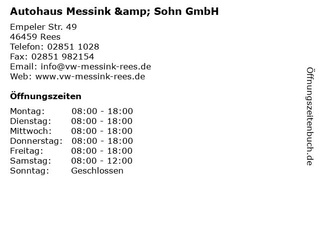 Autohaus Messink & Sohn GmbH in Rees: Adresse und Öffnungszeiten