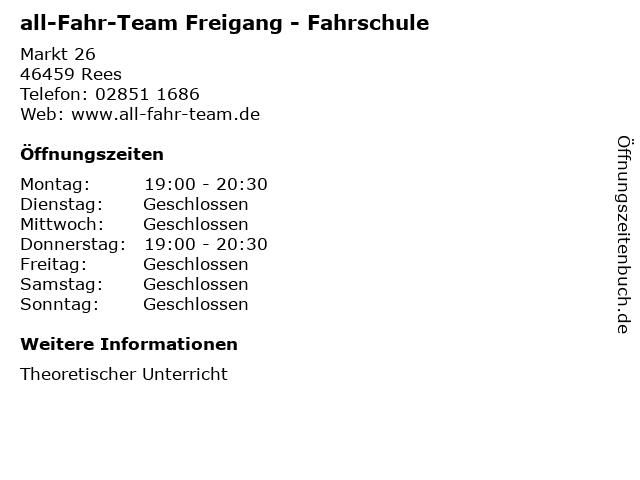 all-Fahr-Team Freigang - Fahrschule in Rees: Adresse und Öffnungszeiten