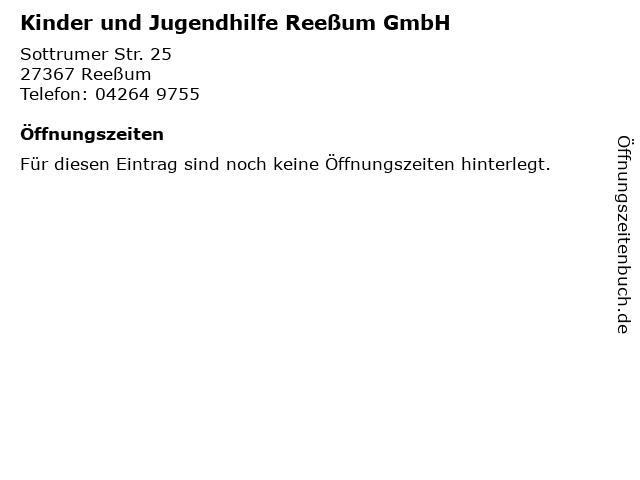Kinder und Jugendhilfe Reeßum GmbH in Reeßum: Adresse und Öffnungszeiten