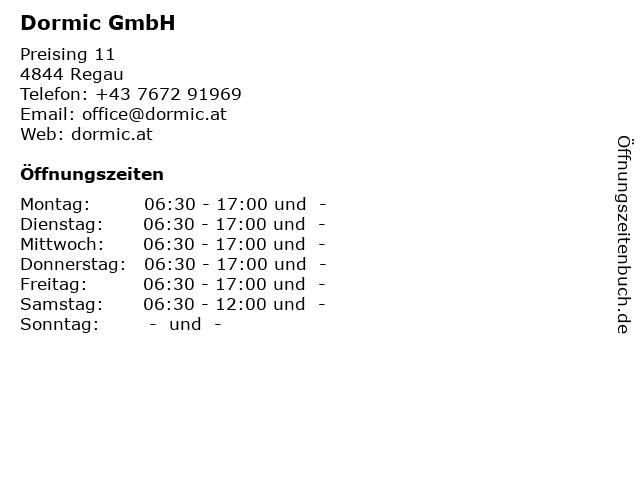 Dormic GmbH in Regau: Adresse und Öffnungszeiten