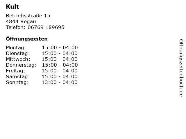 Kult in Regau: Adresse und Öffnungszeiten