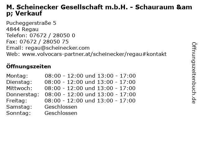 M. Scheinecker Gesellschaft m.b.H. - Schauraum & Verkauf in Regau: Adresse und Öffnungszeiten