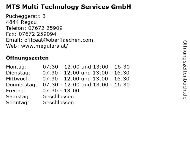 MTS Multi Technology Services GmbH in Regau: Adresse und Öffnungszeiten