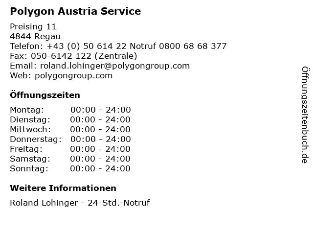 Polygon Austria Service in Regau: Adresse und Öffnungszeiten