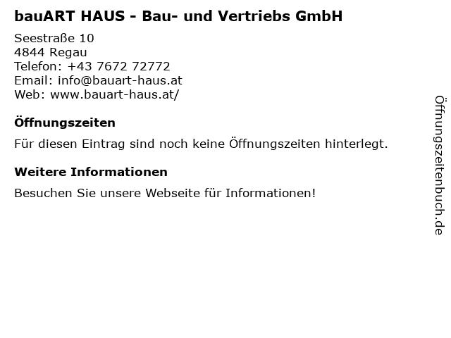 bauART HAUS - Bau- und Vertriebs GmbH in Regau: Adresse und Öffnungszeiten