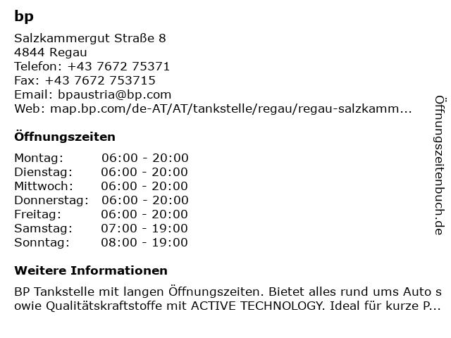 bp in Regau: Adresse und Öffnungszeiten
